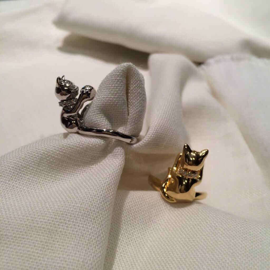 猫ちゃん指輪