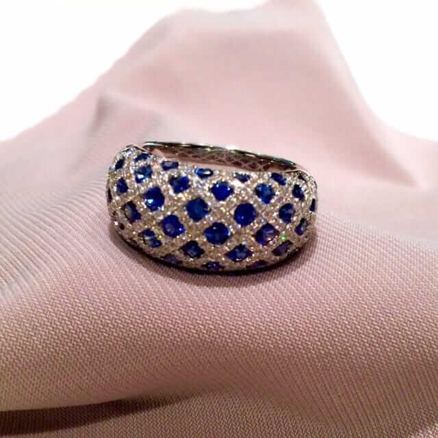 ブルーサファイア・デザイン指輪