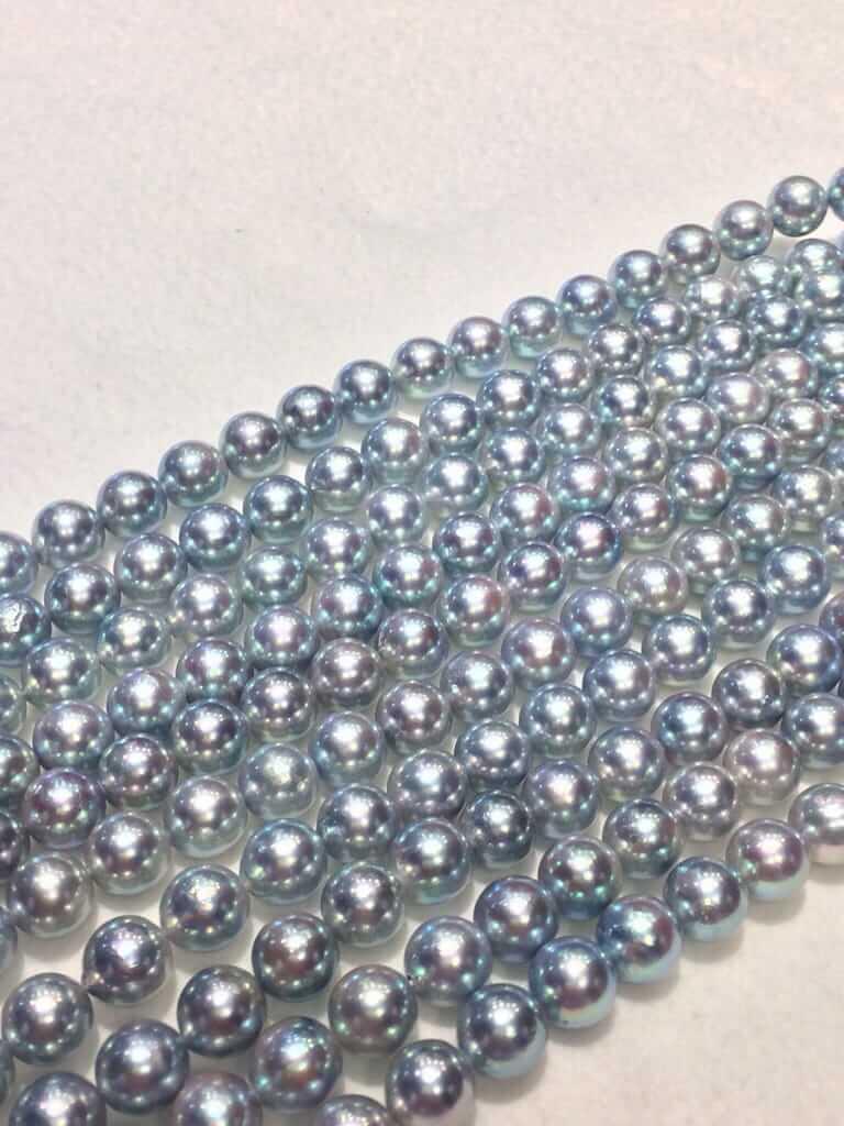 あこや ナチュラルブルーカラー 真珠連