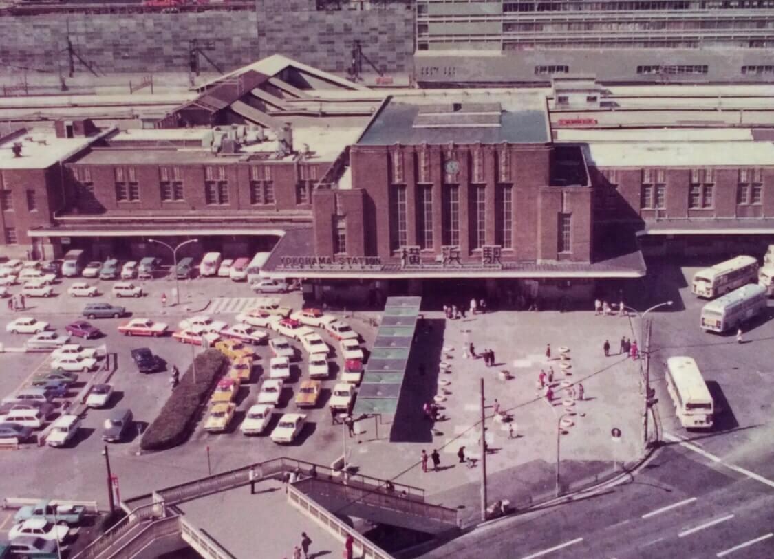 昭和48年 スカイビルからの国鉄横浜駅舎