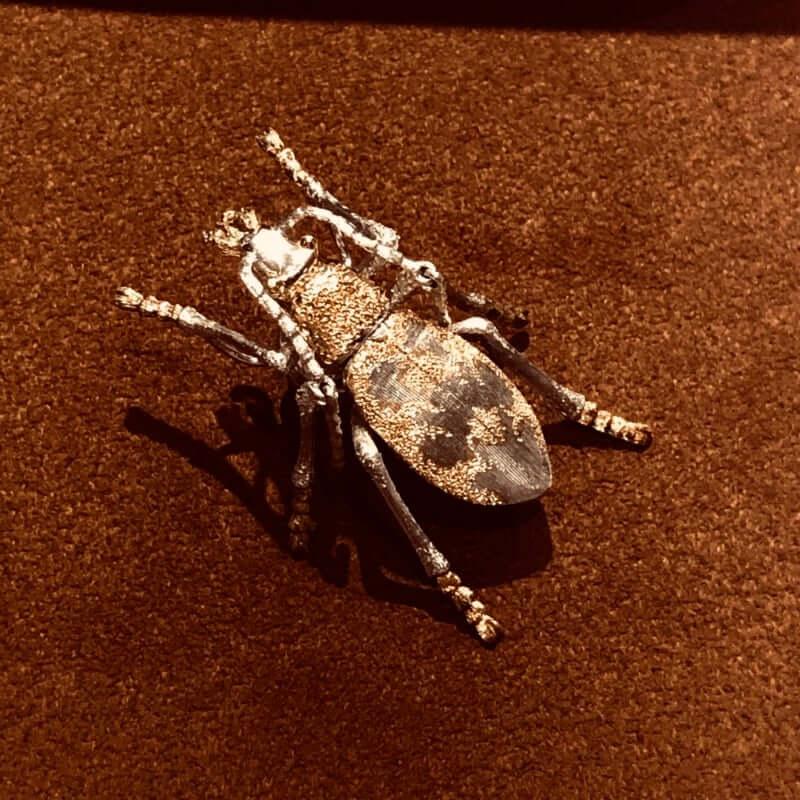虫シリーズ オサムシのピンブローチ