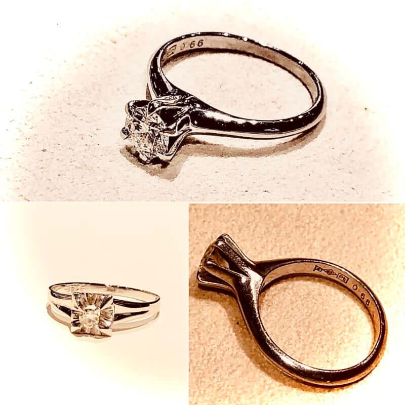 昭和の時代のダイヤモンド婚約指輪