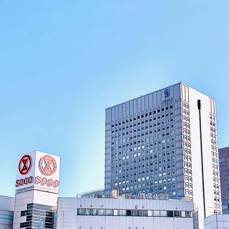 横浜駅東口前 横浜スカイビル