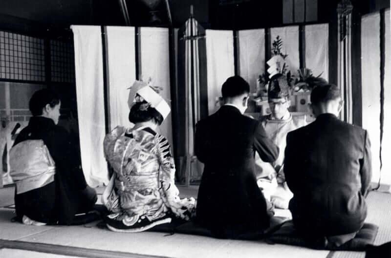昭和36年当時の両親の結婚式風景